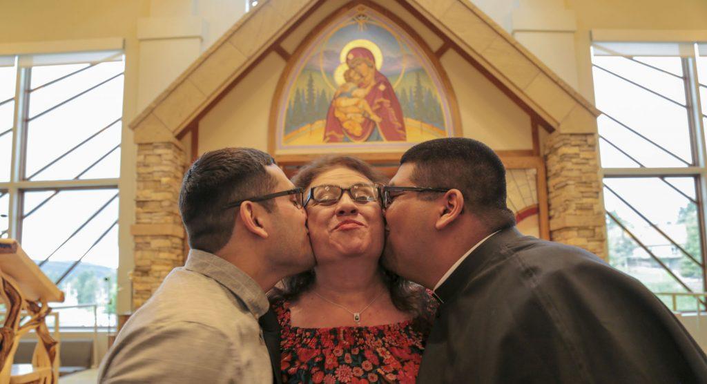 First Profession of Vows, John Sebatian Gutierrez and family.